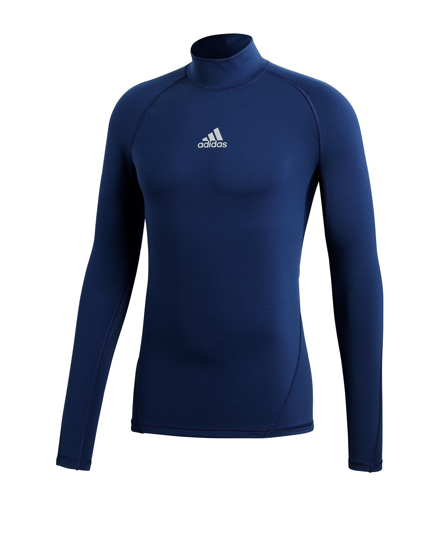 adidas Alphaskin Mock Warm langarm Dunkelblau - blau