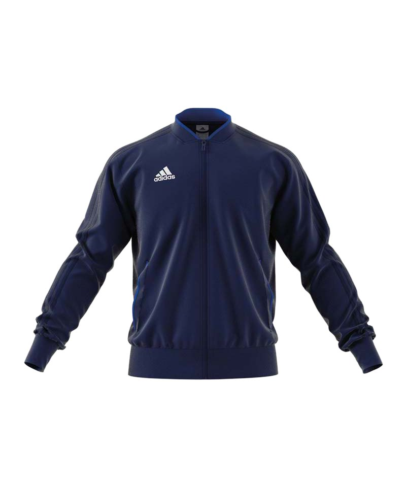 adidas Condivo 18 Polyesterjacke Dunkelblau Weiss - blau