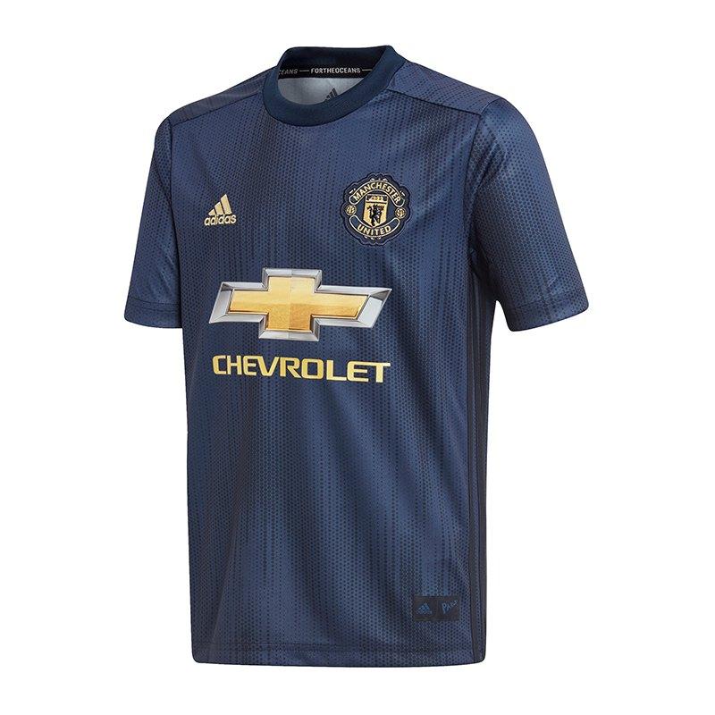 adidas Manchester United Trikot 3rd Kids 2018/2019 - blau