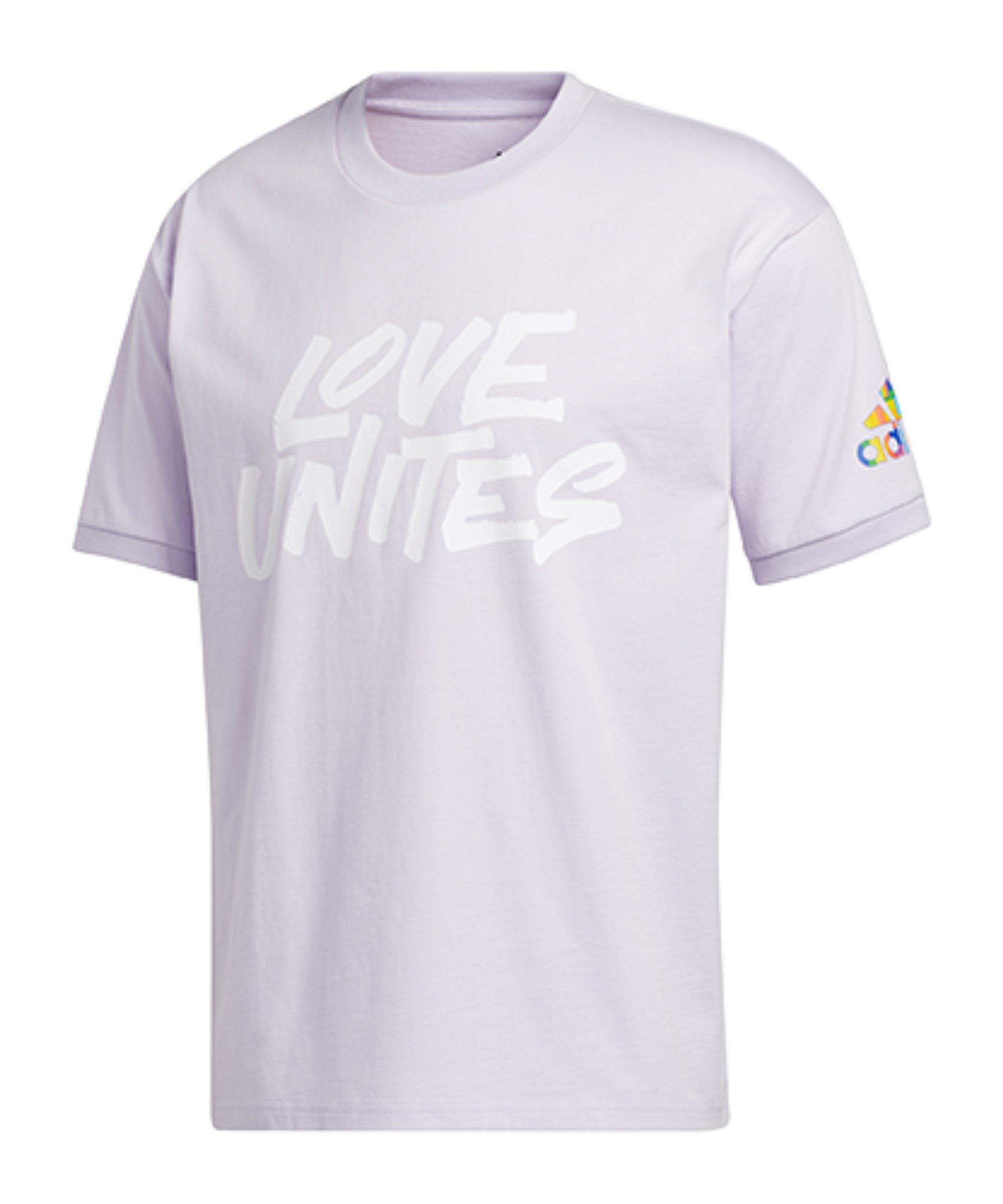 adidas Pride Unites T-Shirt Lila - lila
