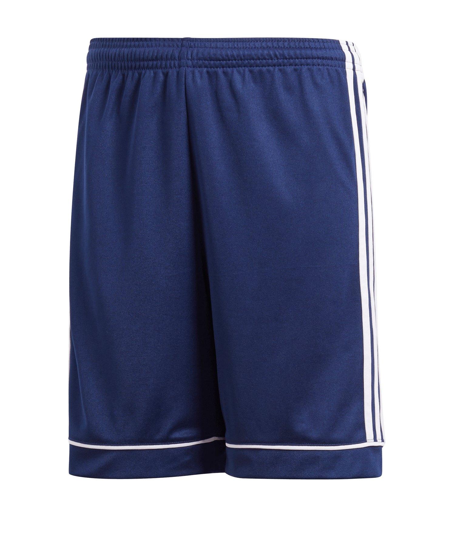 adidas Short Squadra 17 ohne Innenslip Blau Weiss - blau