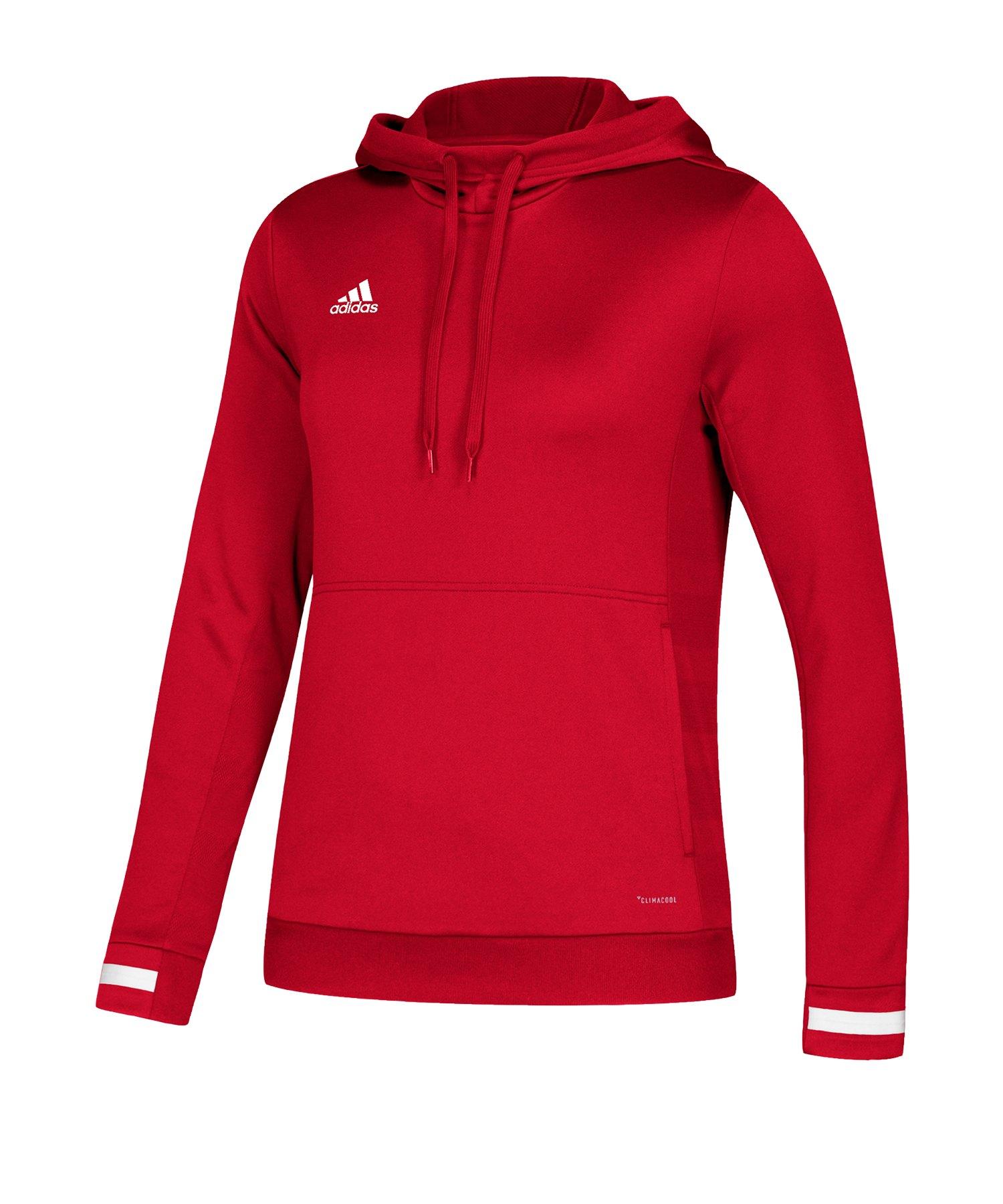 adidas Team 19 Kapuzensweatshirt Damen Rot - rot