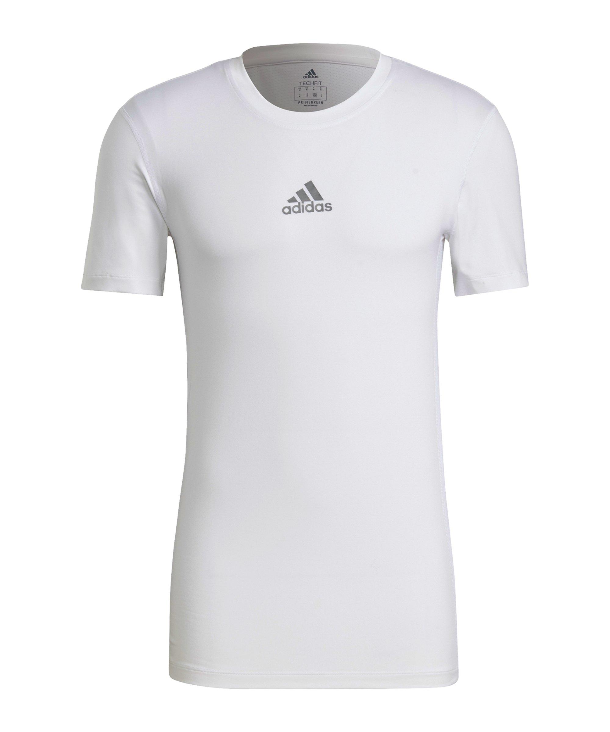 adidas Techfit Shirt kurzarm Weiss - weiss