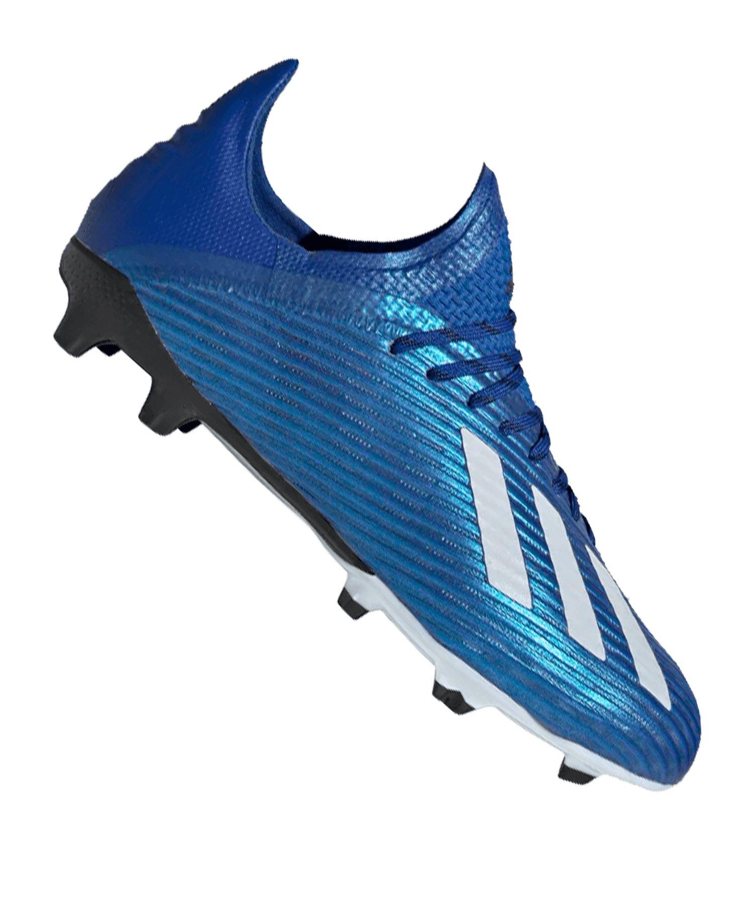 adidas X 19.1 FG J Kids Blau Weiss Schwarz - blau