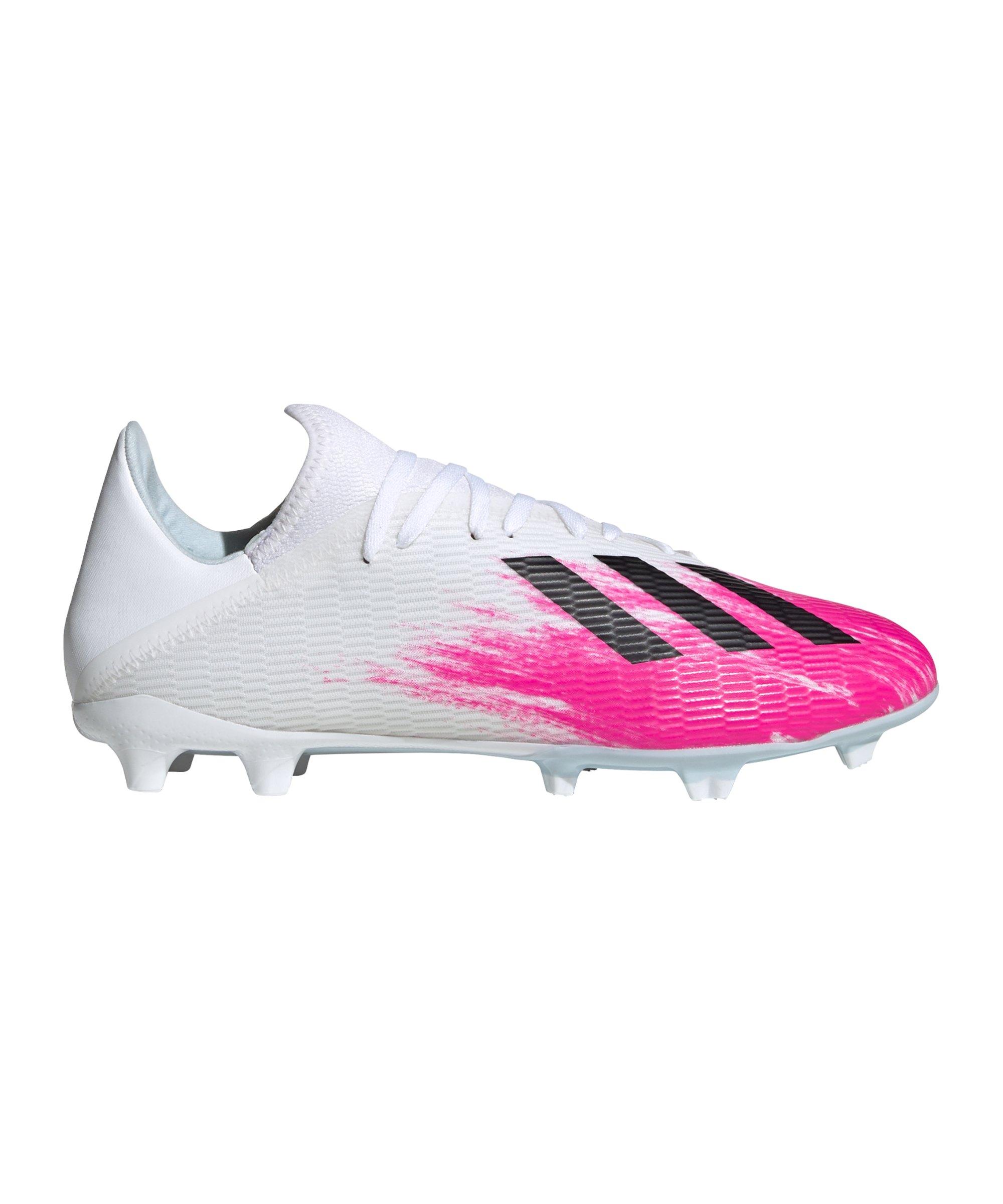 adidas X Uniforia 19.3 FG Weiss Pink - weiss