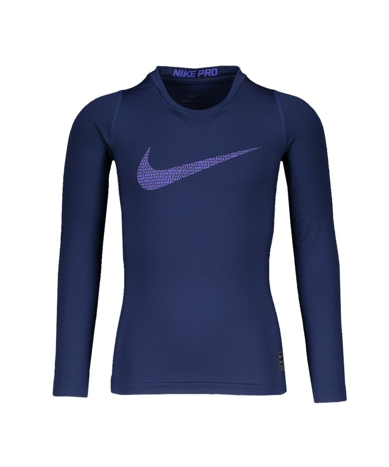 Nike Pro Warm Top Kids Blau F429 - blau