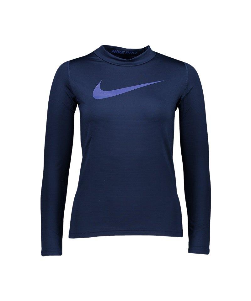 Nike Pro Warm Top T-Shirt Kids Blau F429 - blau