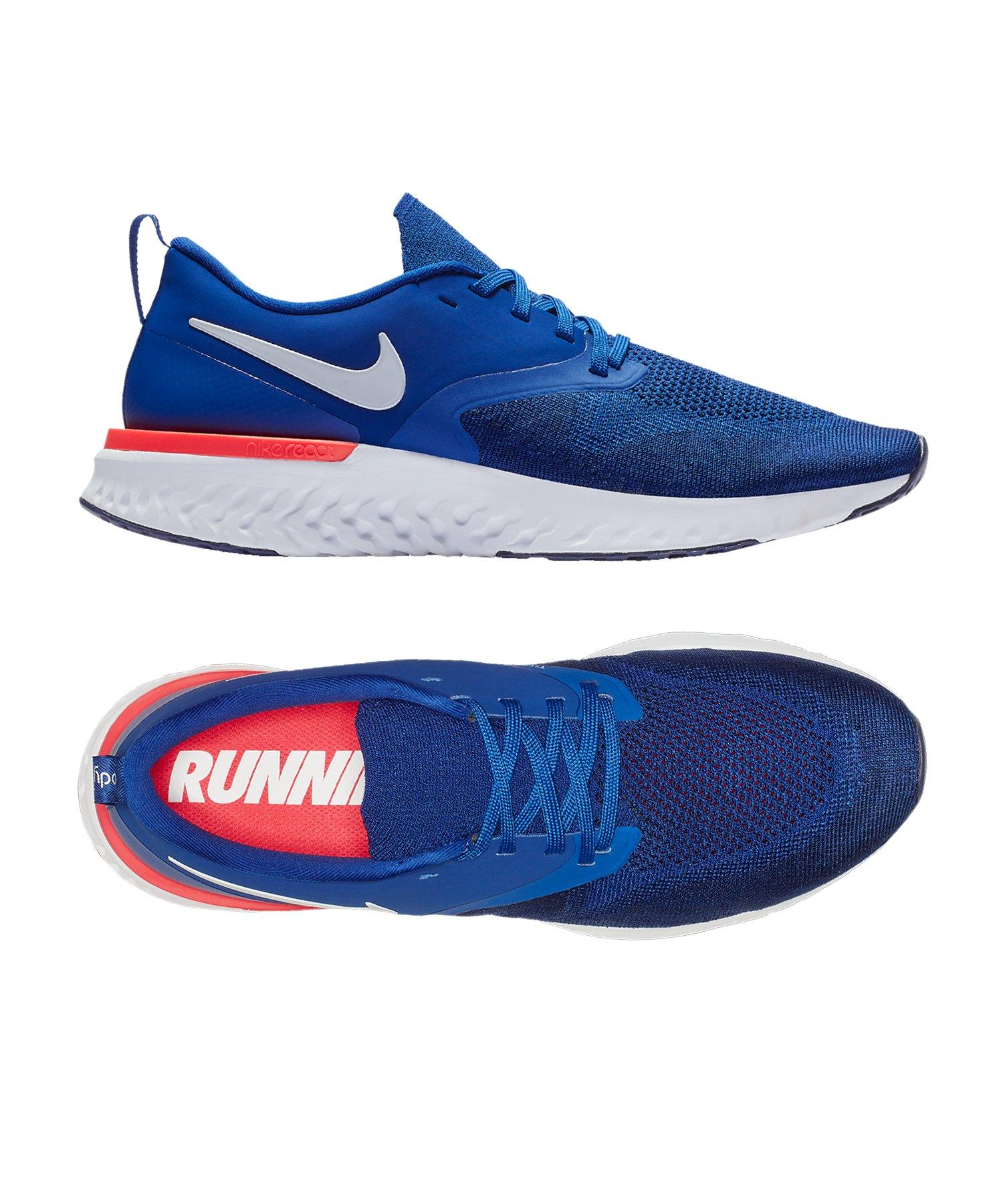 Nike Odyssey React Flyknit 2 Running Blau F400 - blau