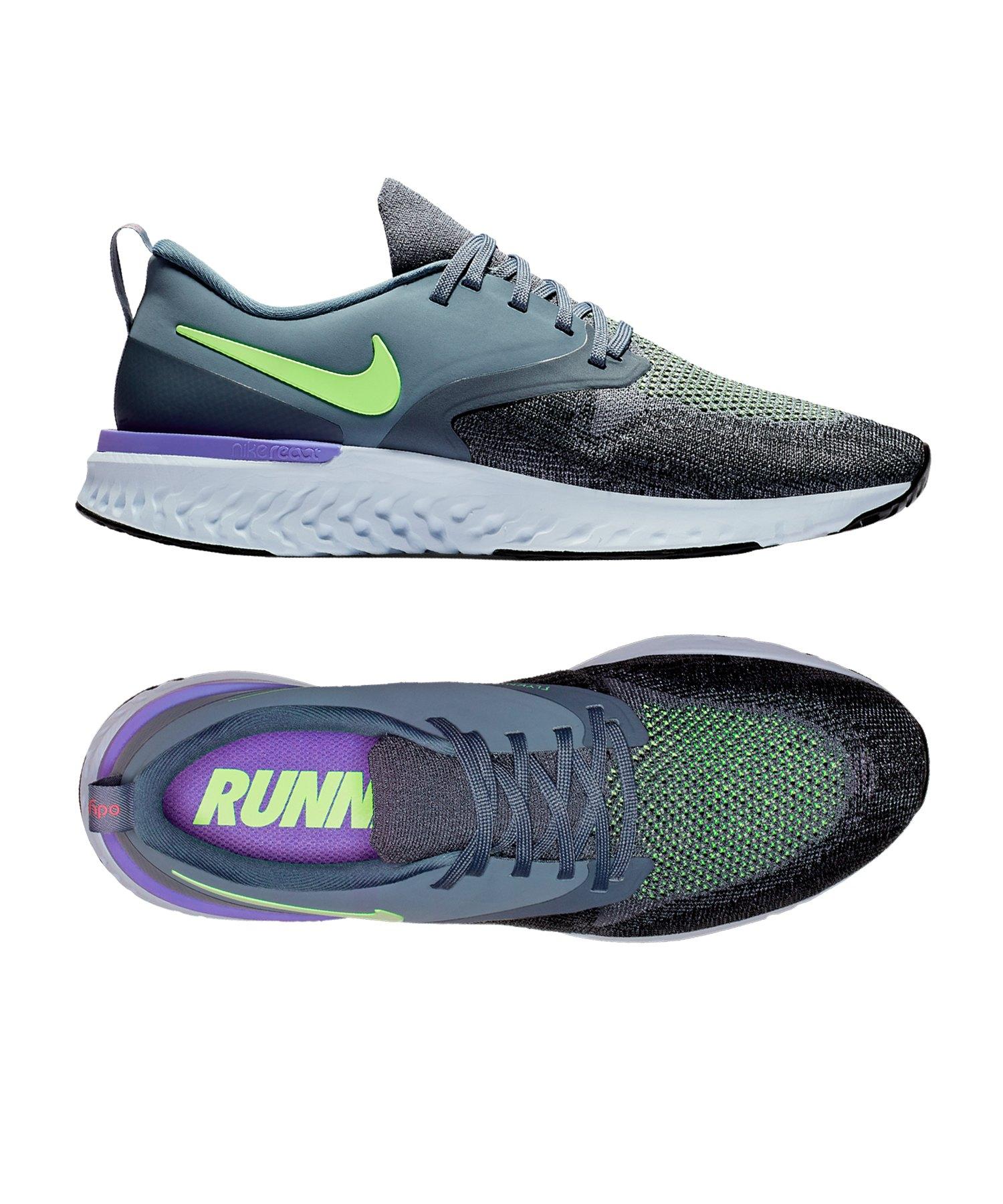 Nike Odyssey React Flyknit 2 Running Blau F401 - blau