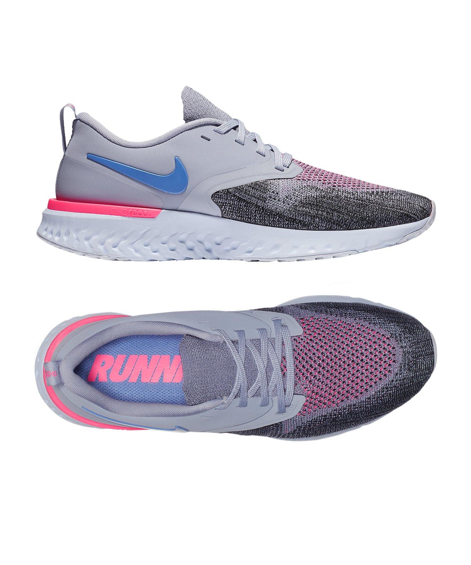 Nike Odyssey React Flyknit 2 Running Damen F500 - grau
