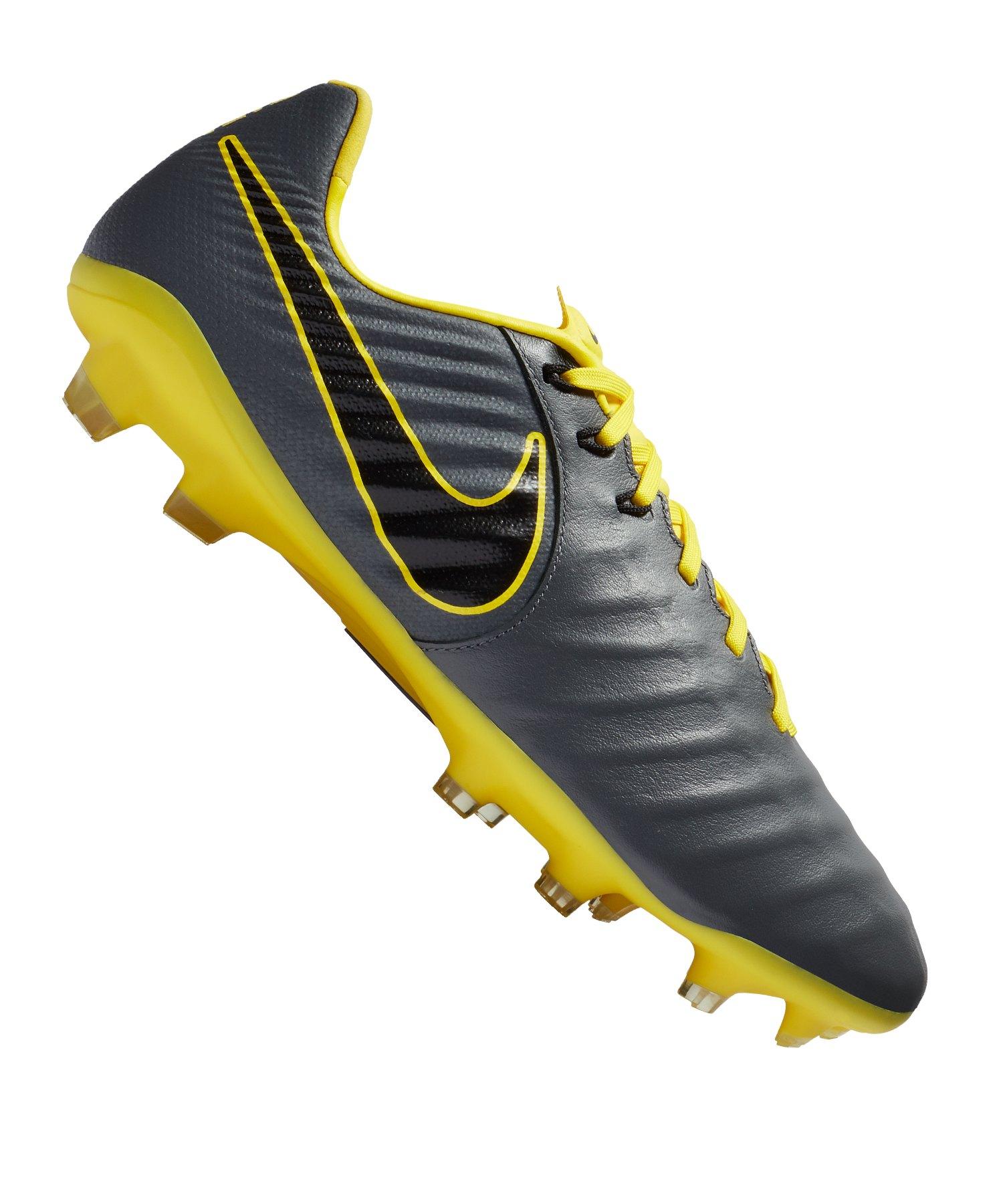 Nike Tiempo Legend VII Pro FG Grau Gelb F070 - grau