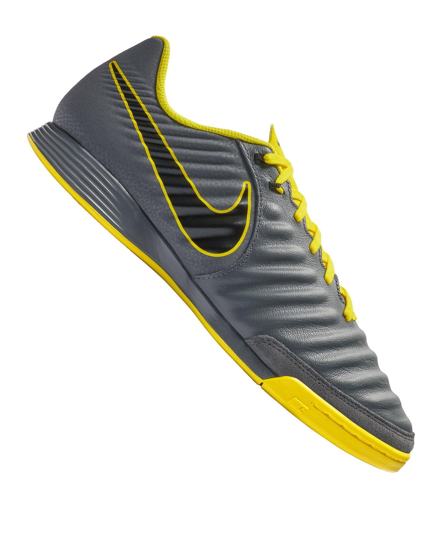 Nike Tiempo LegendX VII Academy IC Grau Gelb F070 - grau