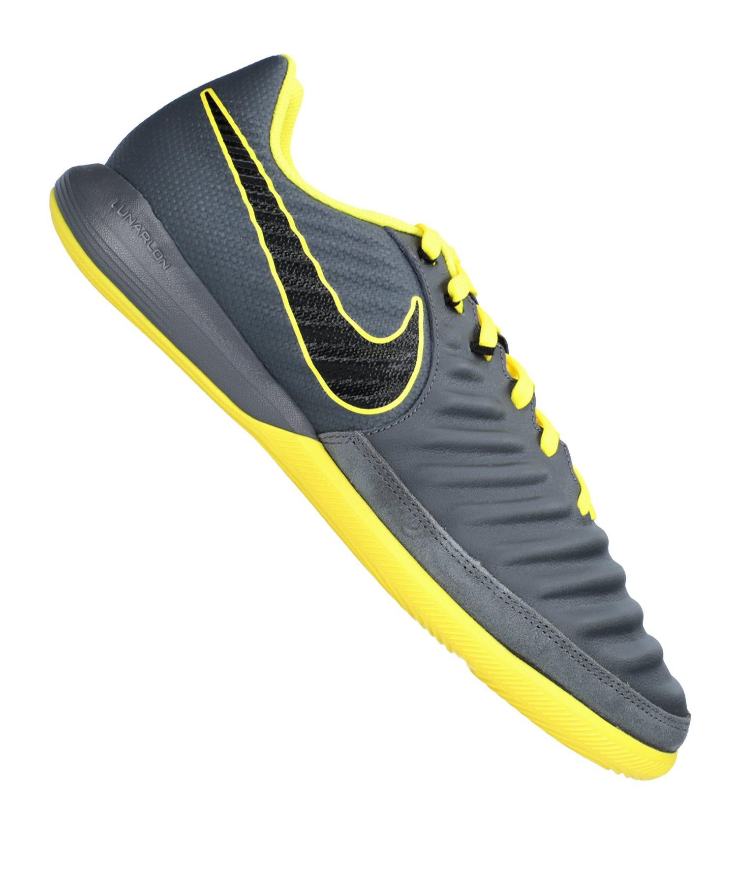 Nike Tiempo LegendX VII Pro IC Grau Gelb F070 - grau
