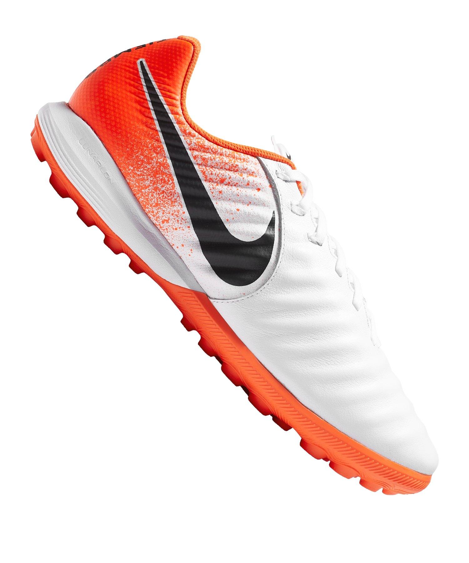 Nike Tiempo LegendX VII Pro TF Weiss Orange F118 - Weiss