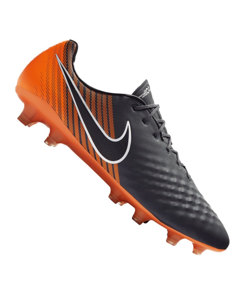 Nike Magista Obra II Elite FG Grau Orange F080 - grau