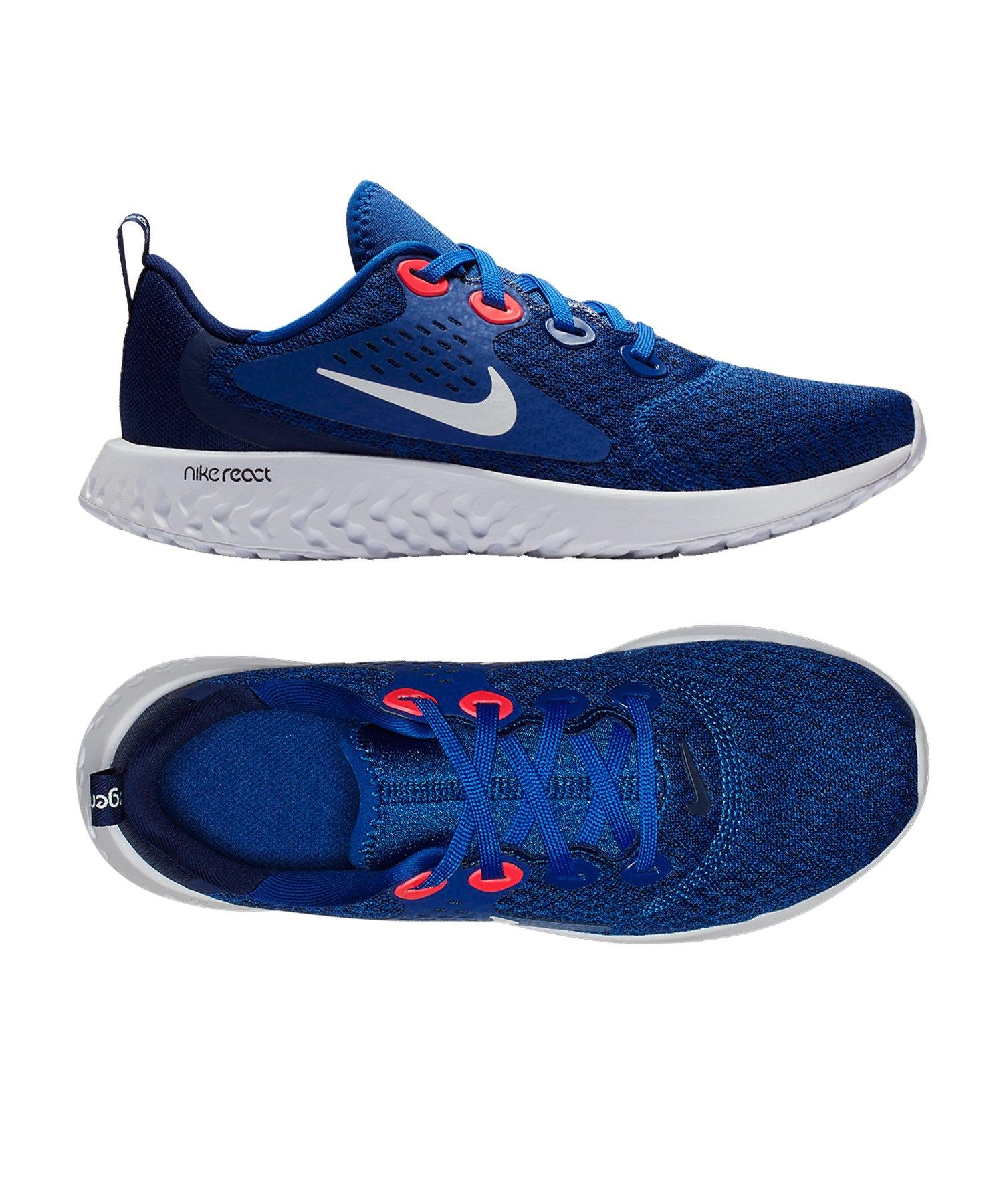 Nike Legend React Running Kids Blau Weiss F402 - blau