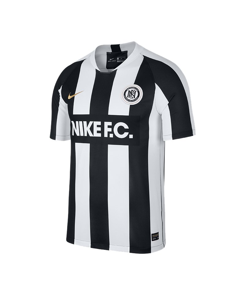Nike F.C. Home Tee T-Shirt Weiss Schwarz F100 - weiss