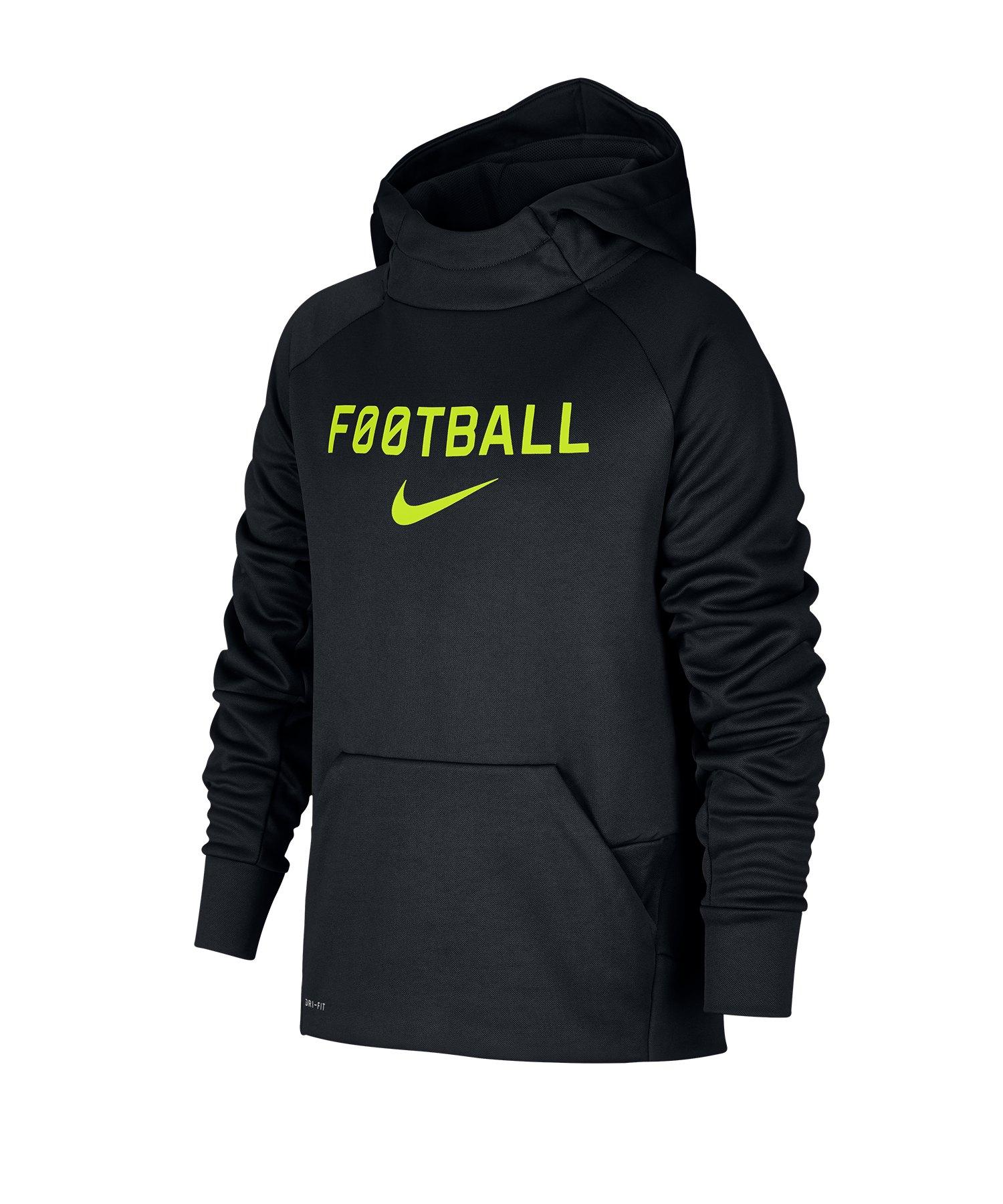 Nike Therma Football Kapuzensweatshirt Kids F011 - schwarz