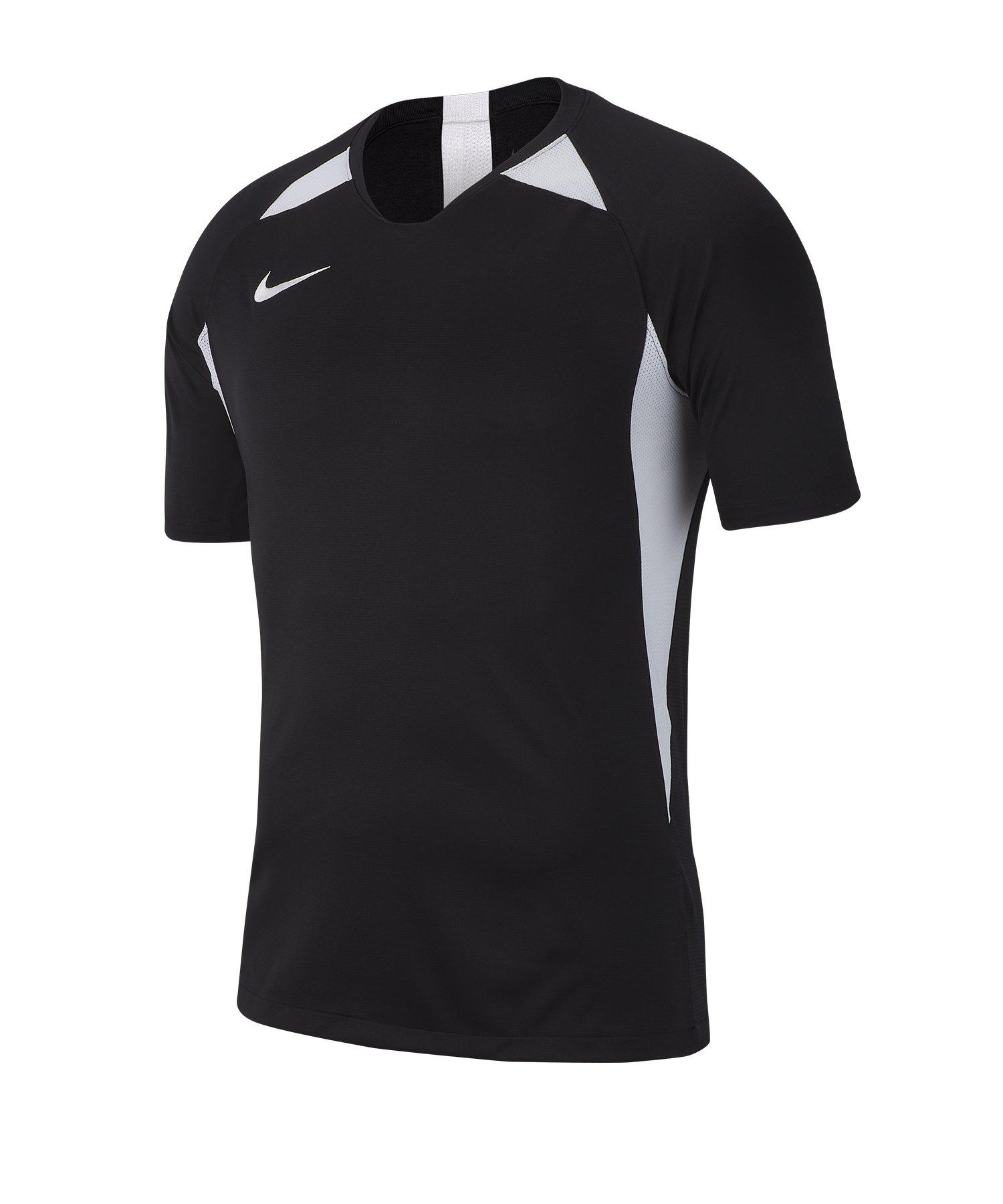 Nike Legend Trikot kurzarm Schwarz Weiss F010 - schwarz