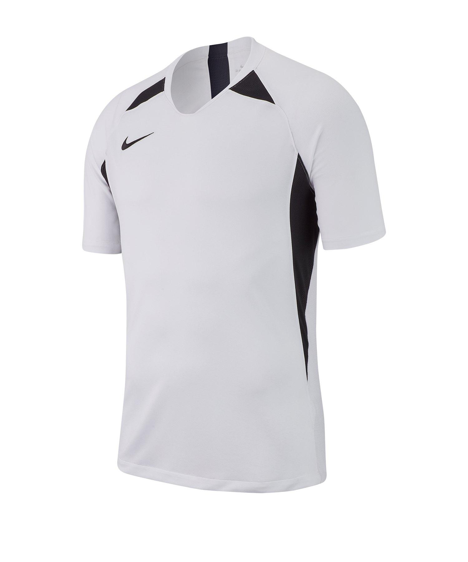 Nike Legend Trikot kurzarm Weiss Schwarz F100 - weiss