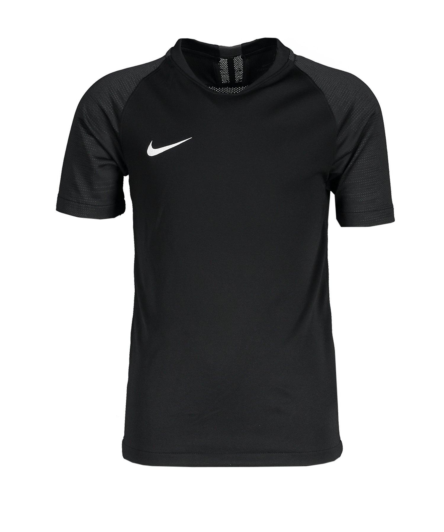 Nike Strike Trikot kurzarm Kids Schwarz Grau F010 - schwarz