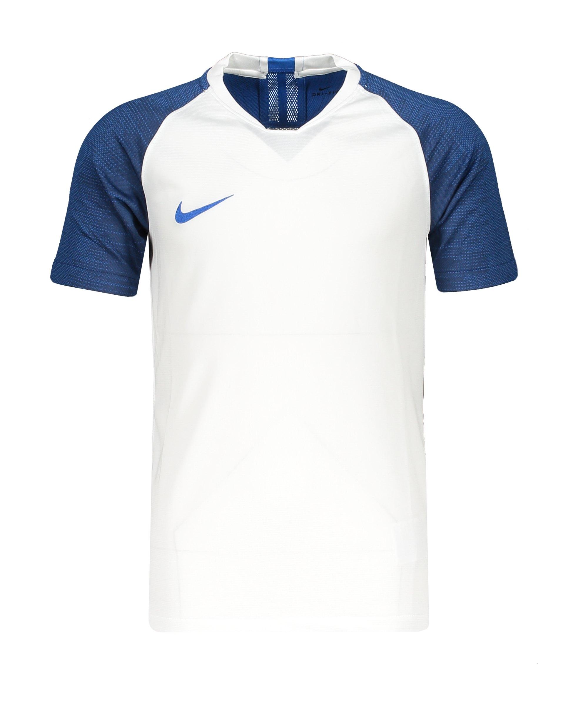 Nike Strike Trikot kurzarm Kids Weiss Blau F102 - Weiss
