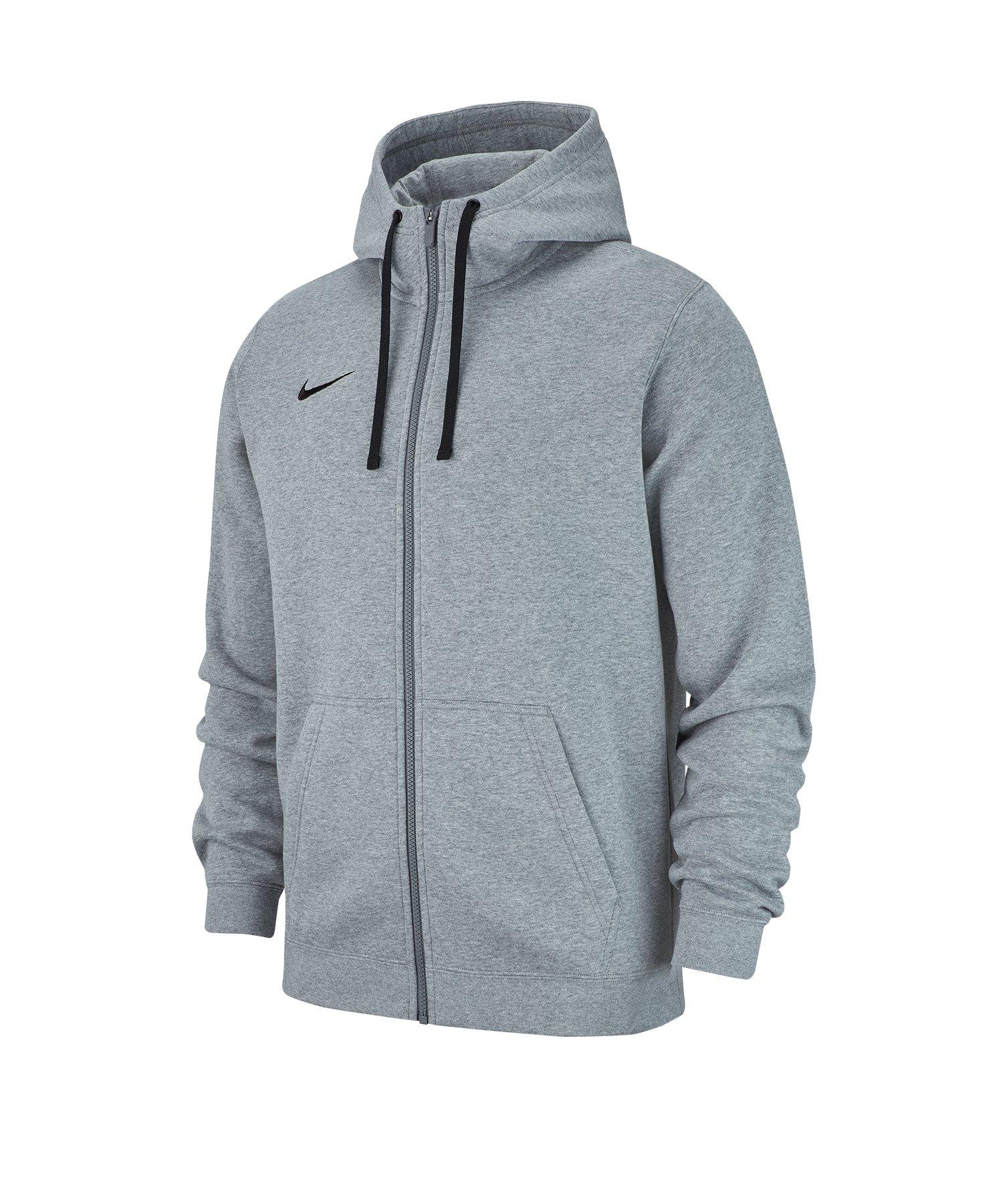 Nike Club 19 Fleece Kapuzenjacke Grau F063 - grau