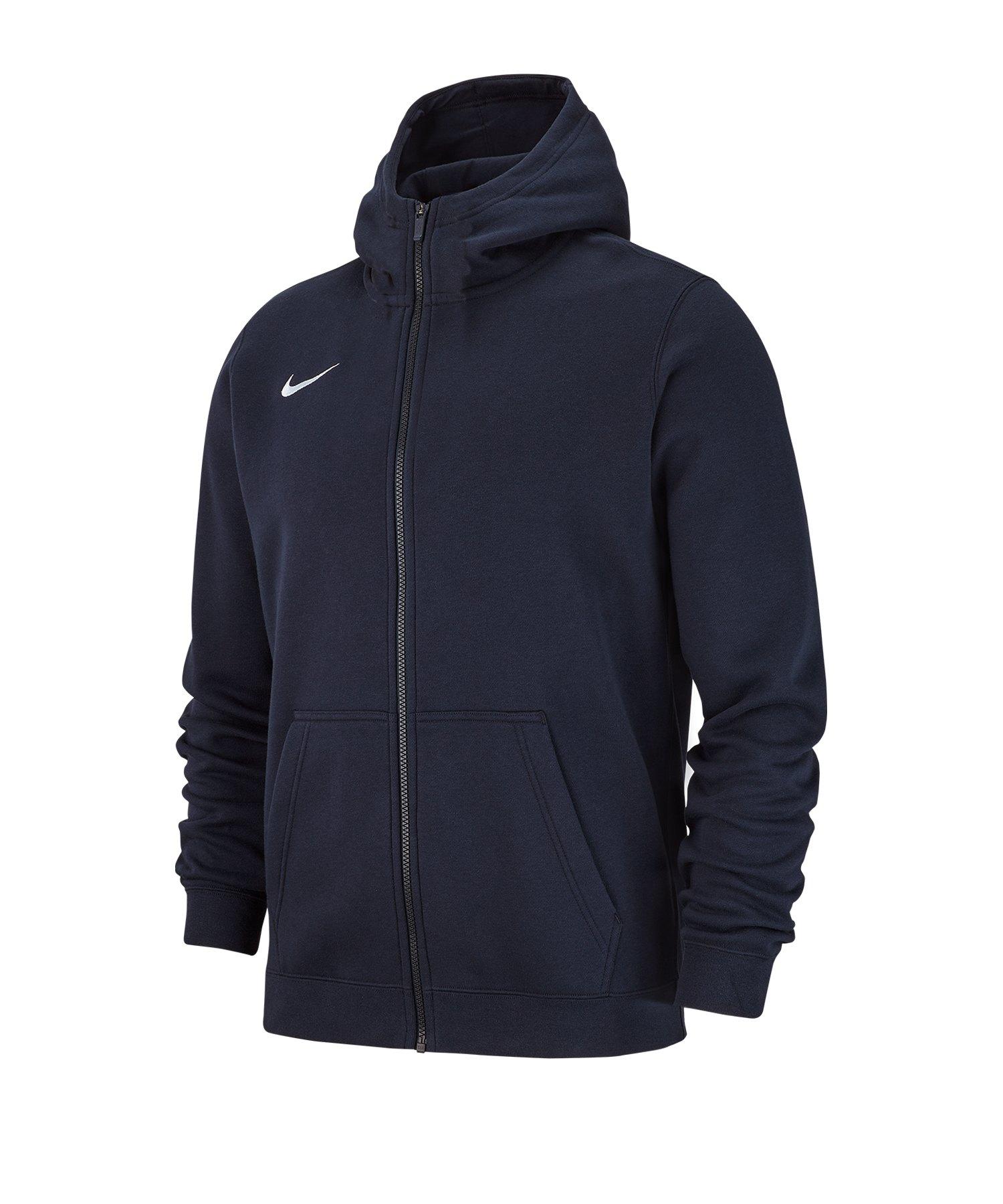 Nike Club 19 Fleece Kapuzenjacke Kids Blau F451 - blau