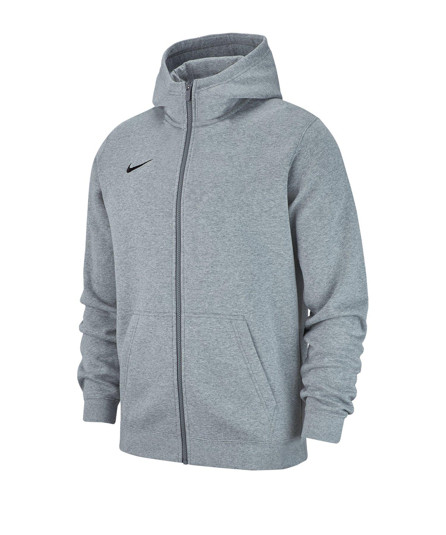 Nike Club 19 Fleece Kapuzenjacke Kids Grau F063 - grau