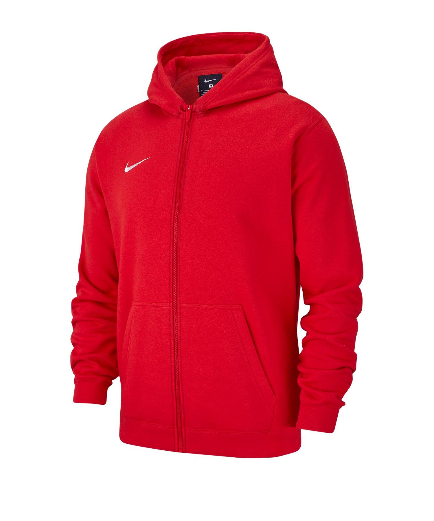 Nike Club 19 Fleece Kapuzenjacke Kids Rot F657 - rot
