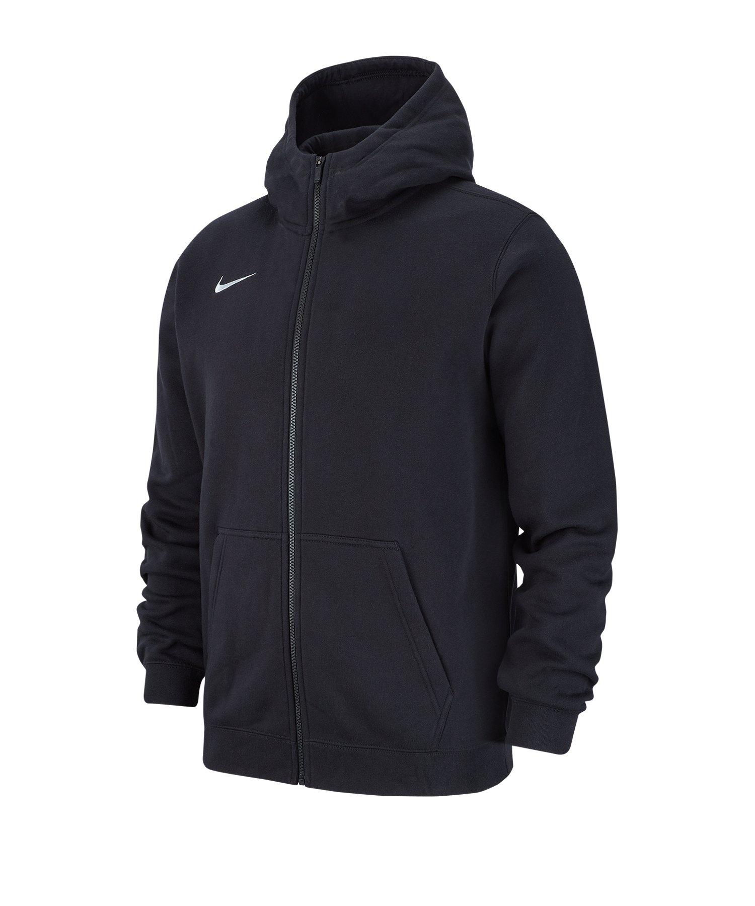 Nike Club 19 Fleece Kapuzenjacke Kids Schwarz F010 - schwarz