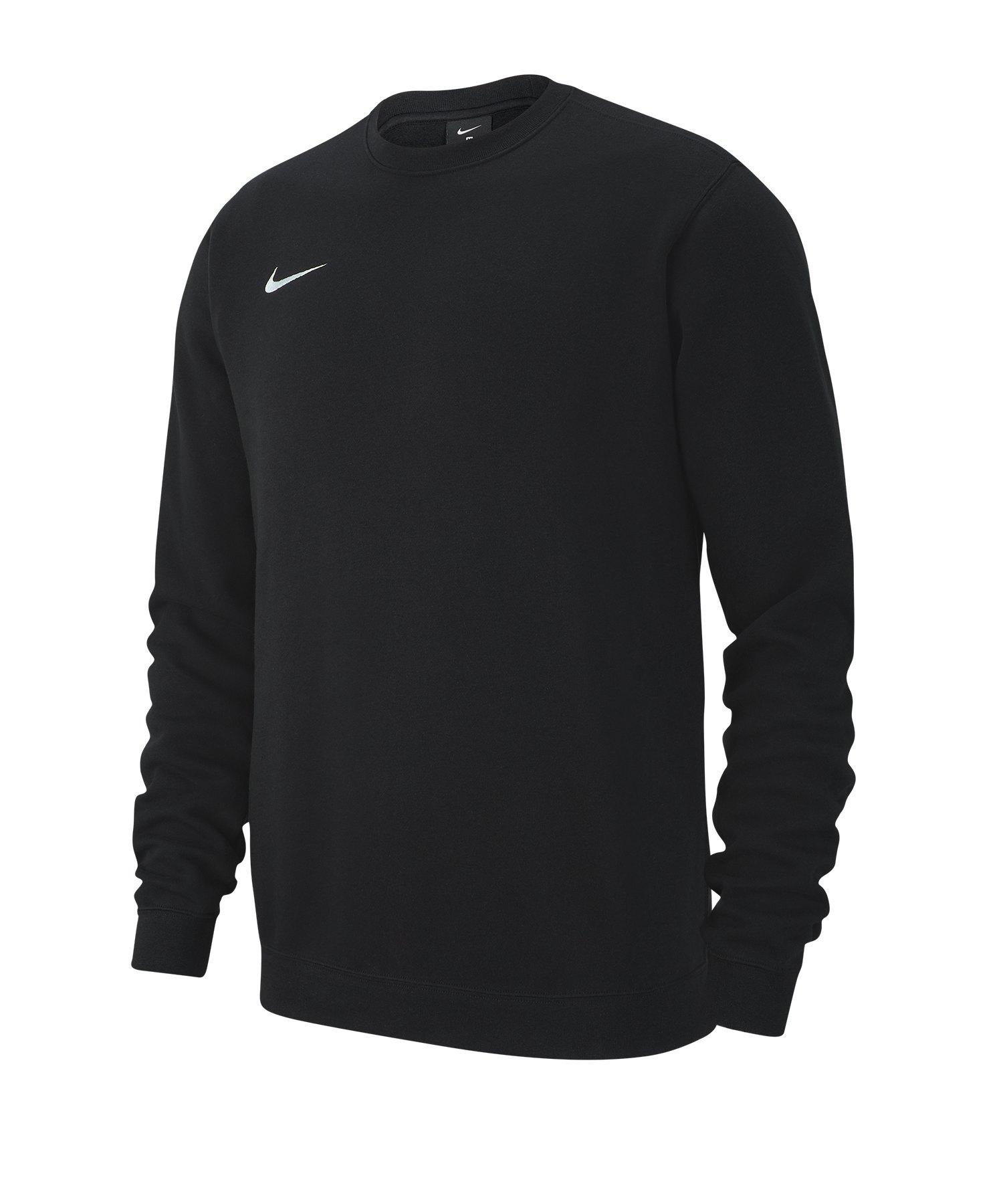 Nike Team Club 19 Fleece Sweatshirt Schwarz F010 - schwarz
