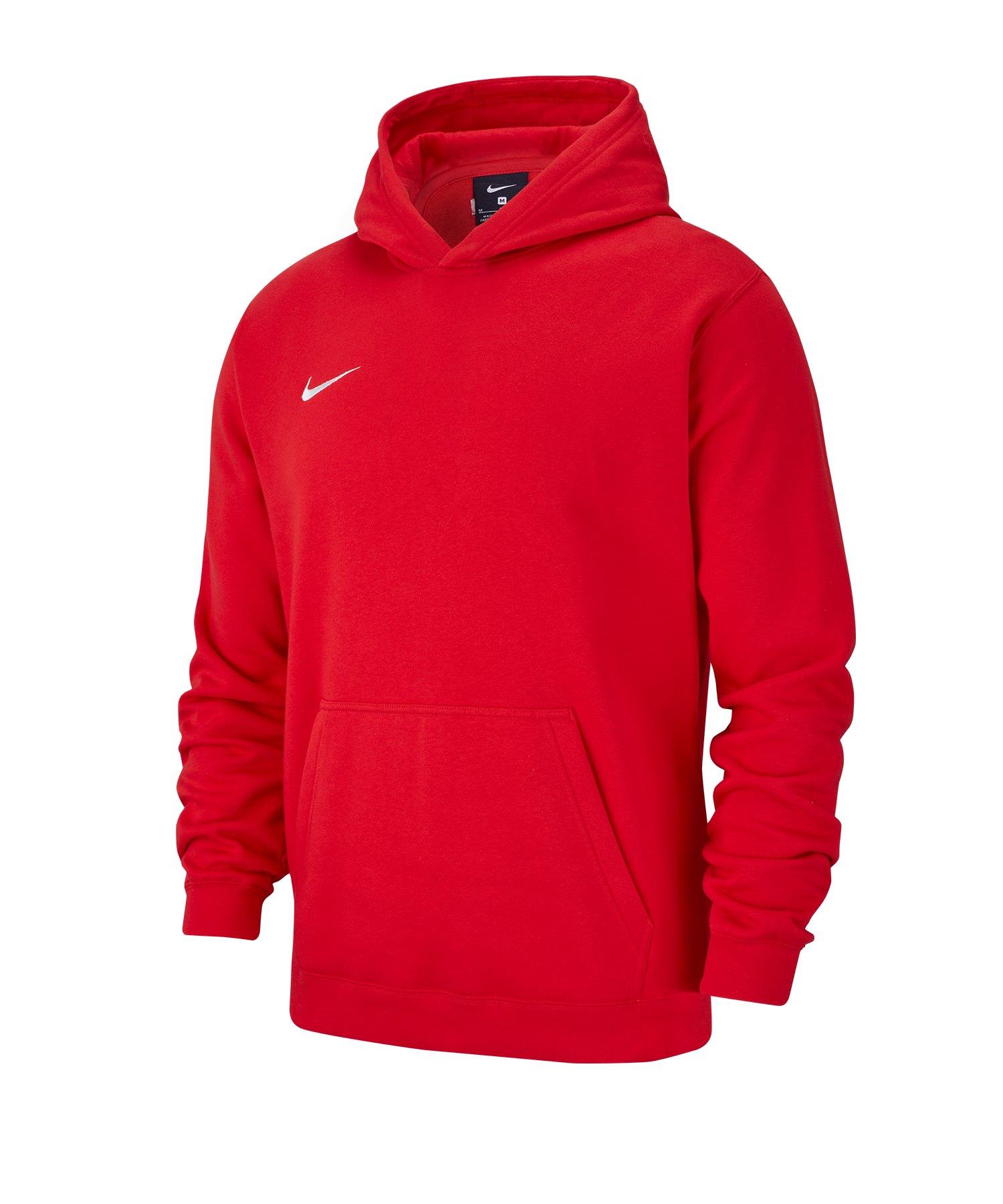 Nike Club 19 Fleece Hoody Kids Rot F657 - rot