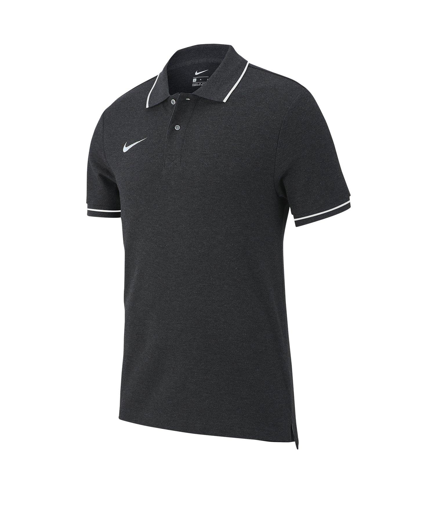 Nike Club 19 Poloshirt Kids Grau Weiss F071 - grau