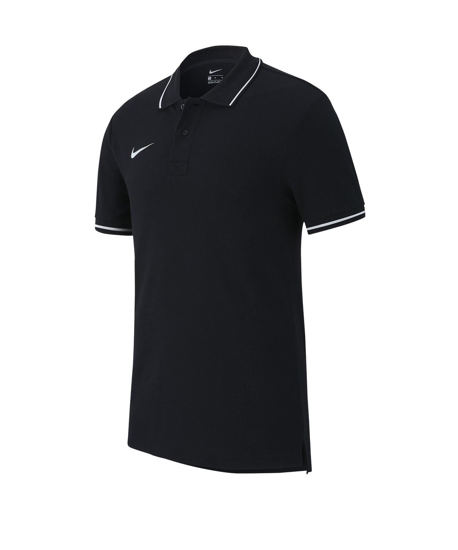 Nike Club 19 Poloshirt Kids Schwarz Weiss F010 - Schwarz