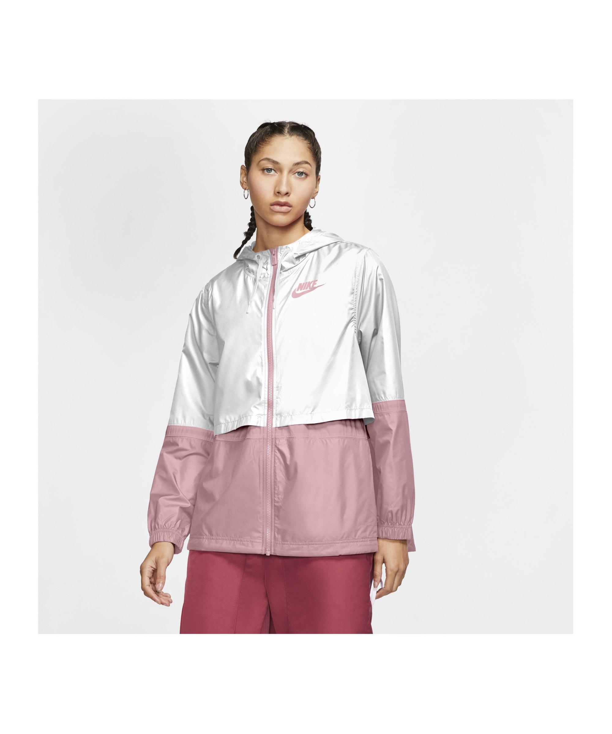 Nike Woven Jacke Damen Weiss Pink F109 - weiss