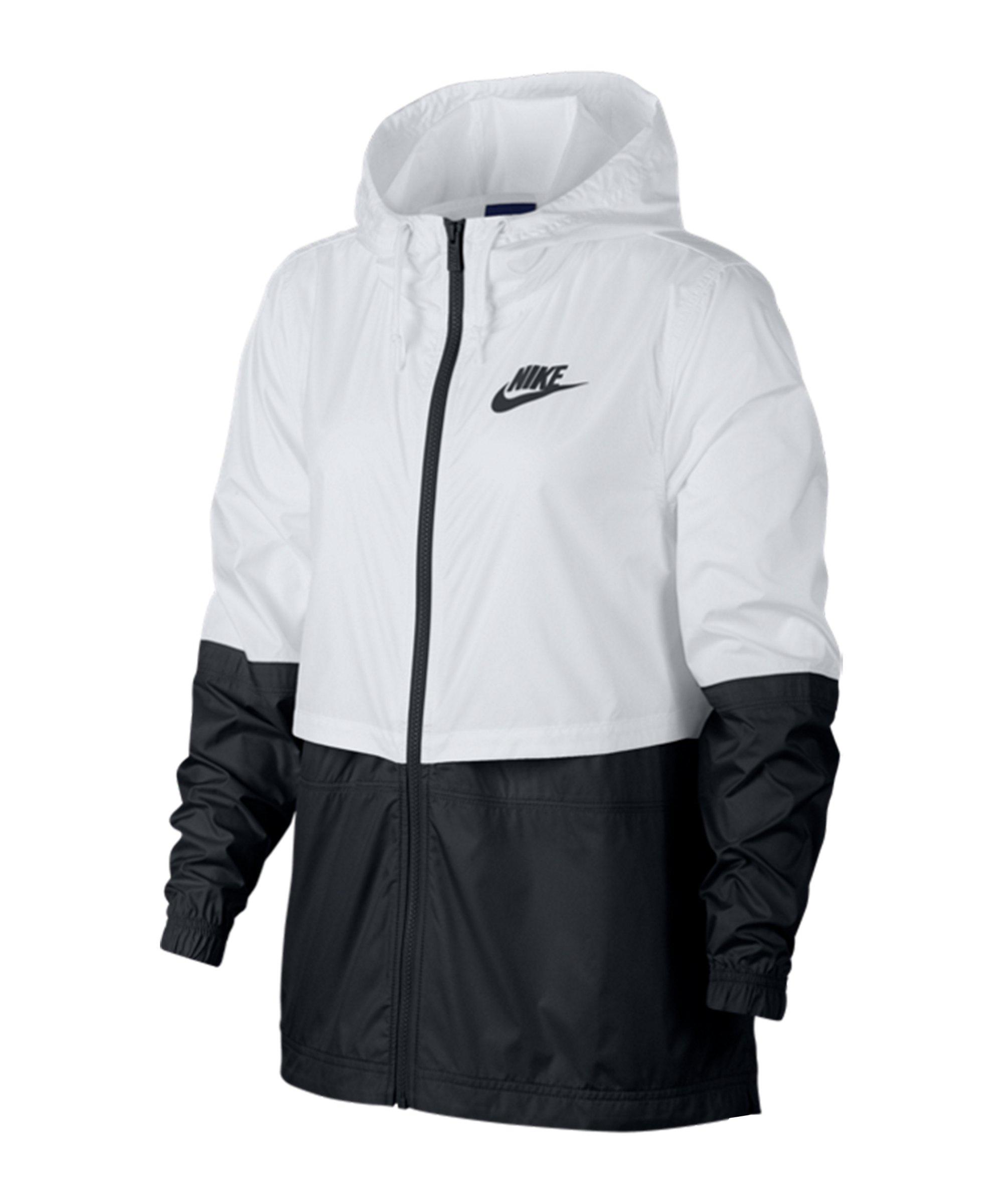 Nike Woven Jacke Damen Weiss Schwarz F102 - weiss