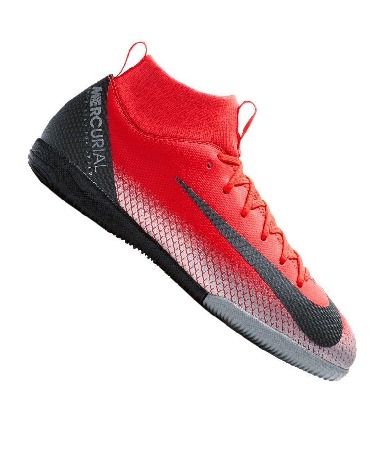 Nike Jr Mercurial Superfly VI Academy CR7 IC Kids F600 - rot