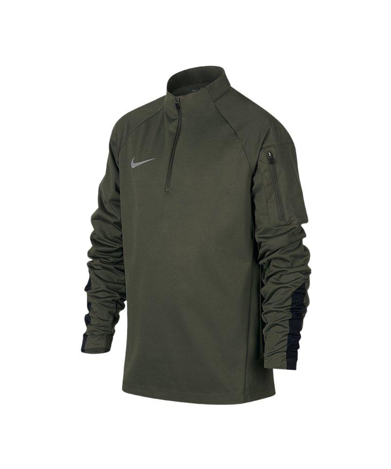 Nike Shield Squad Drill Zip Sweatshirt Kids F325 - gruen