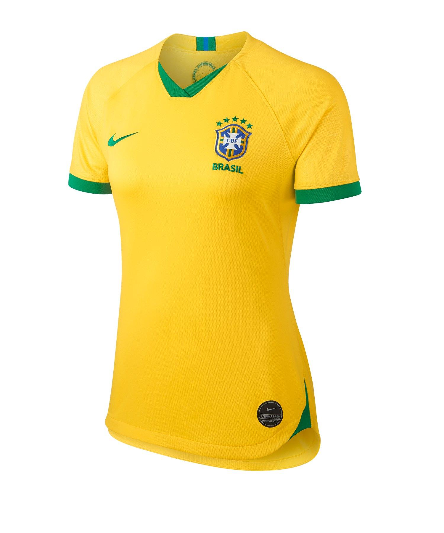 Nike Brasilien Trikot Home Damen WM 2019 Gelb F749 - gelb
