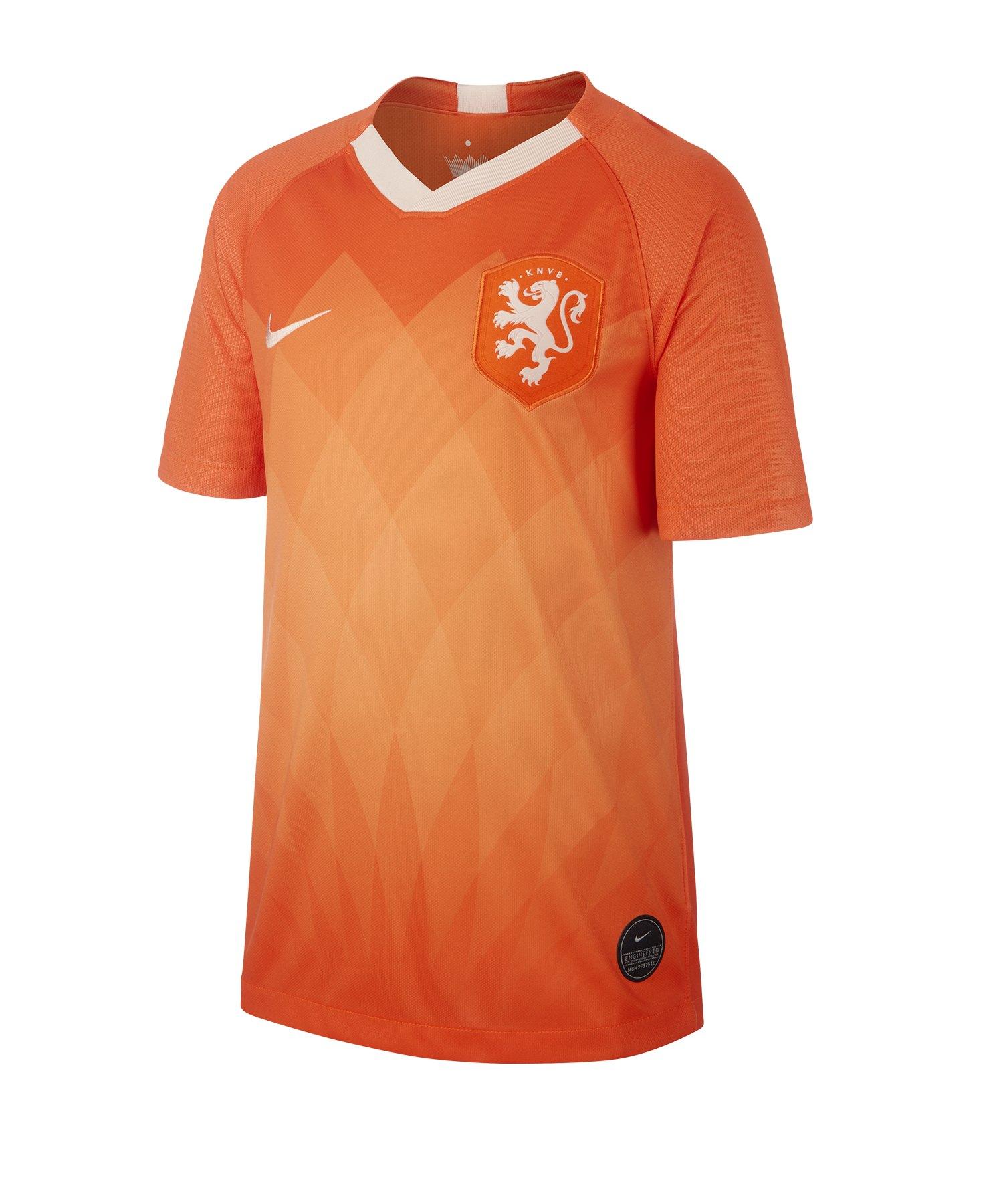 Nike Niederlande Trikot Home Kids 2019 Orange F819 - Orange