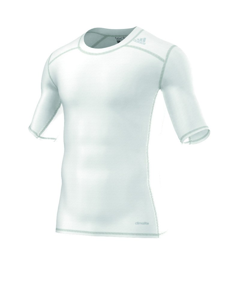 adidas Tee Kurzarmshirt Tech Fit Base Weiss - weiss