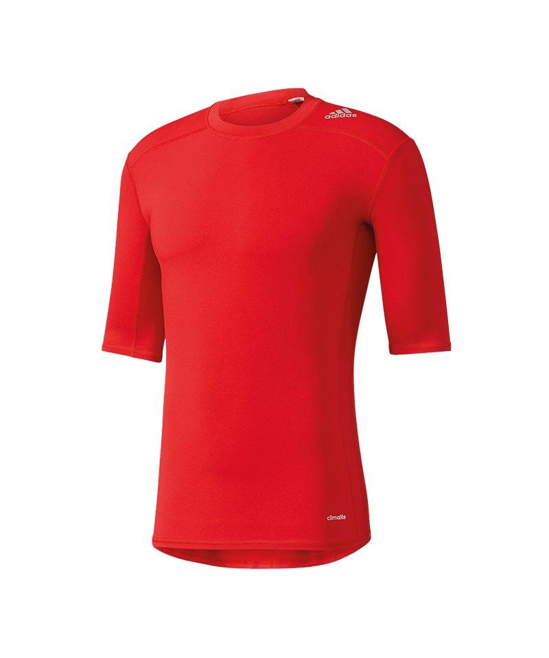 adidas Tee Kurzarmshirt Tech Fit Base Rot - rot