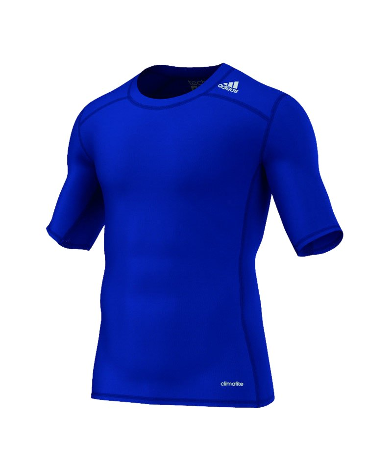 adidas Tee Kurzarmshirt Tech Fit Base Dunkelblau - blau