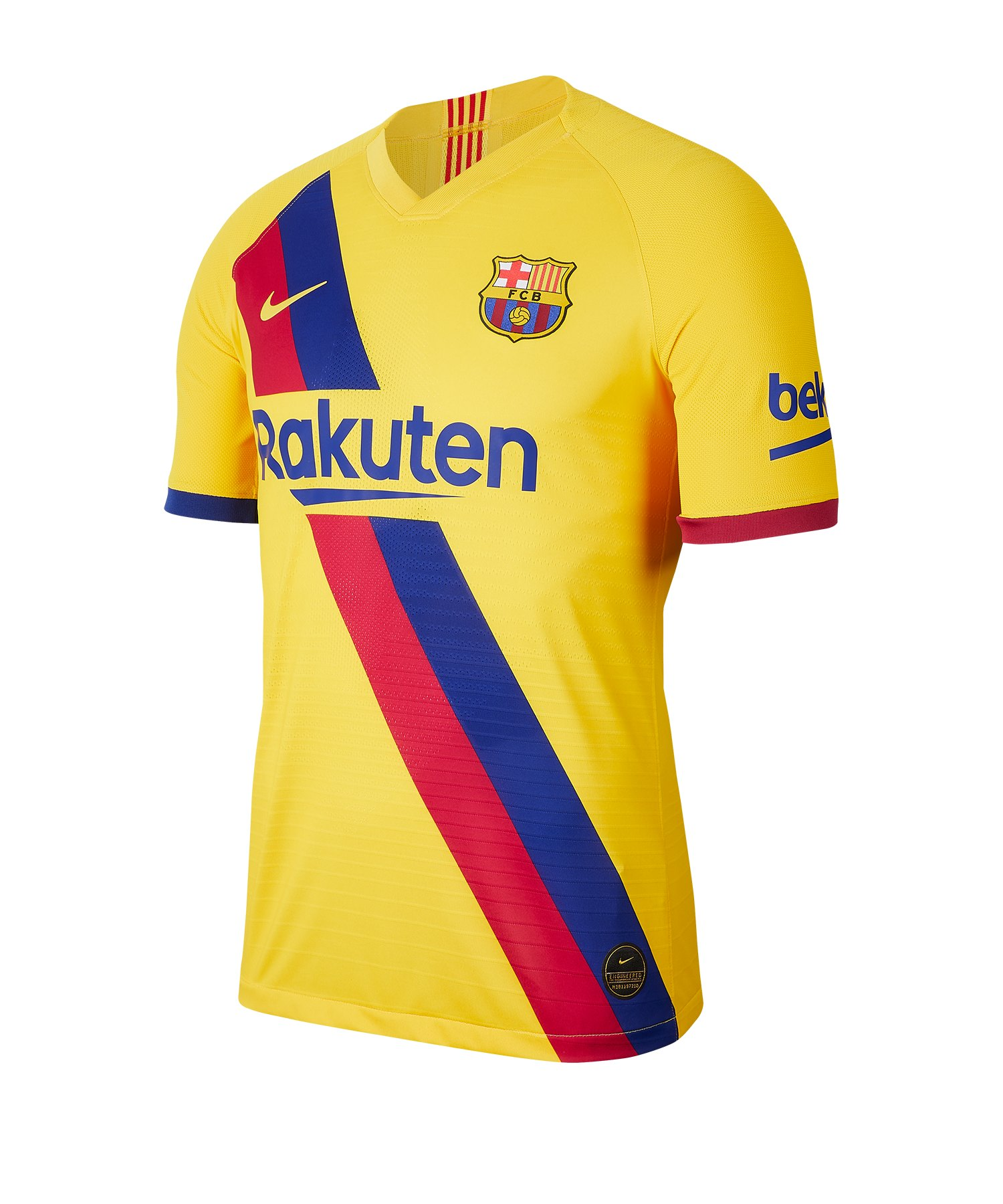 Nike FC Barcelona Authentic Trikot Away 2019/2020 Gelb F728 - gelb