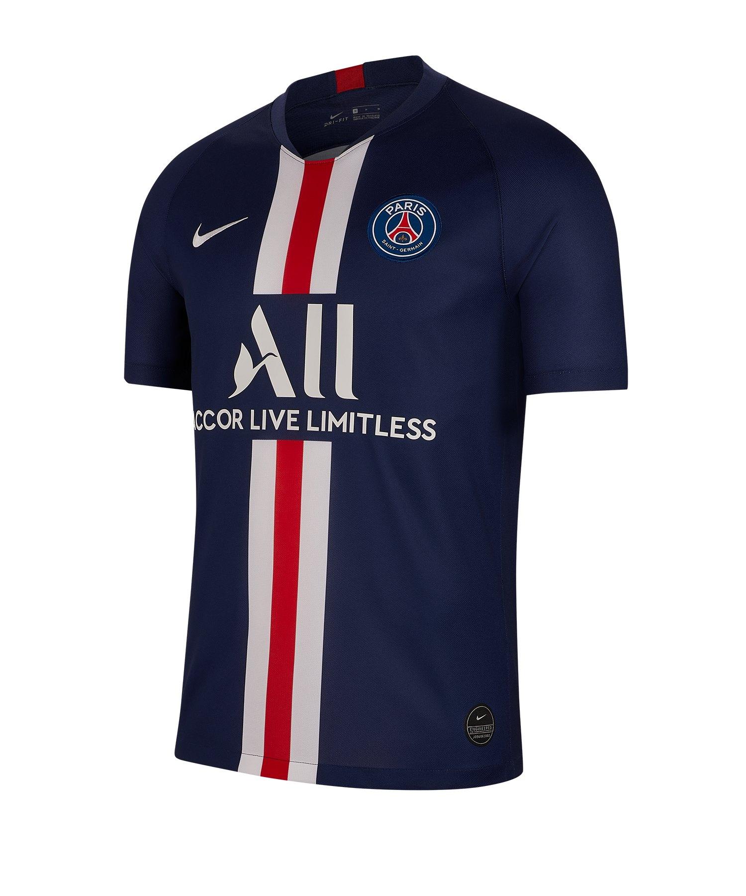 Nike Paris St. Germain Trikot Home 19/20 Blau F411 - Blau