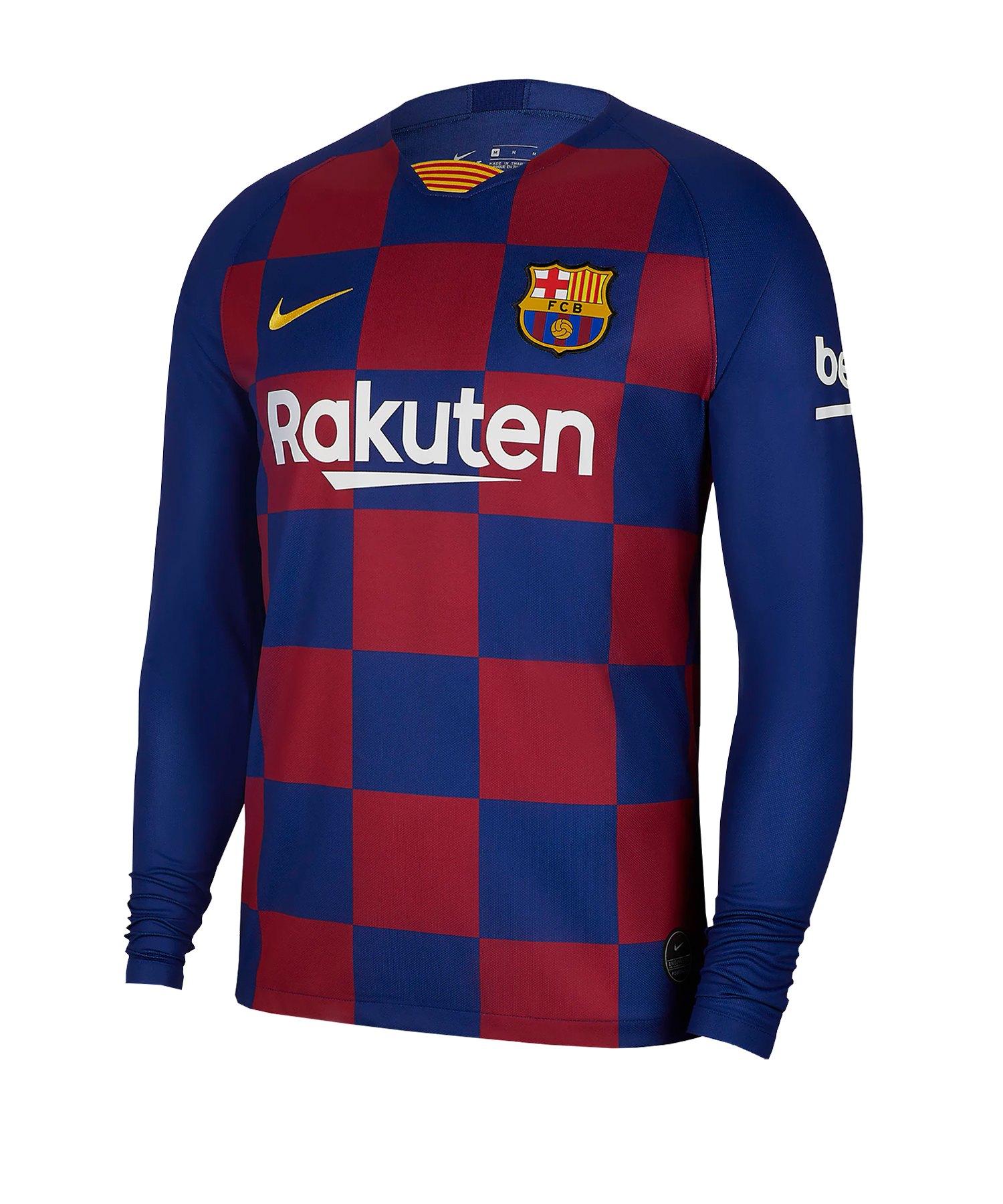 Nike FC Barcelona Trikot Home langarm 2019/2020 F457 - blau