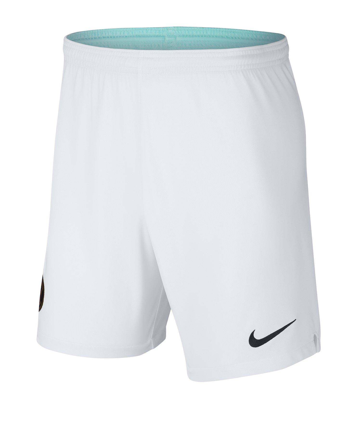 Nike Inter Mailand Short Away 2019/2020 Weiss F100 - weiss