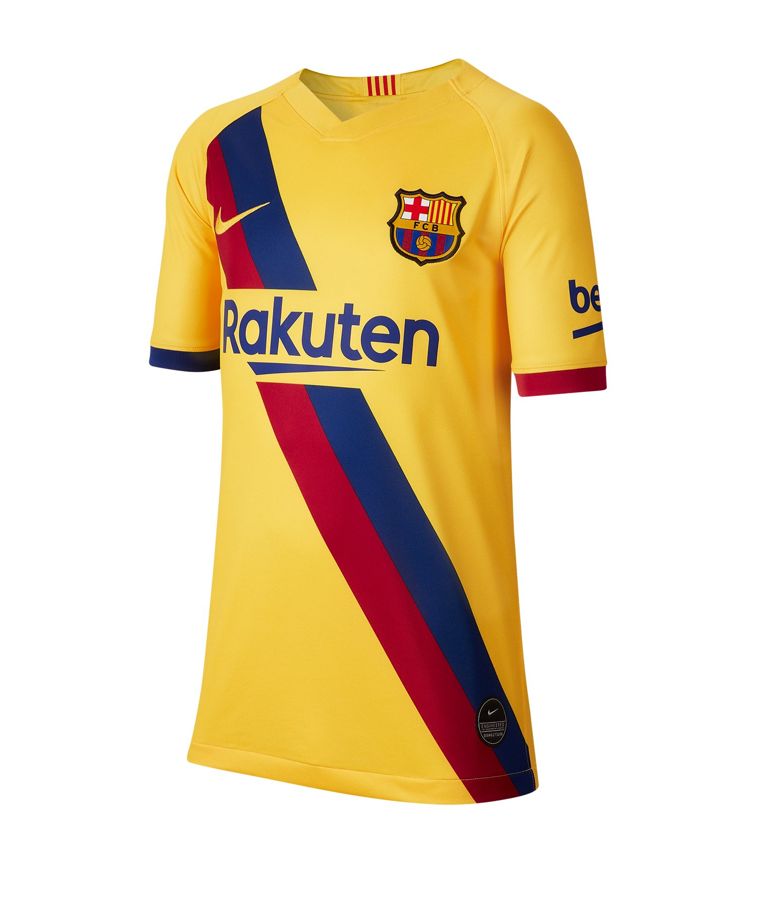 Nike FC Barcelona Trikot Away 2019/2020 Gelb Kids F728 - gelb