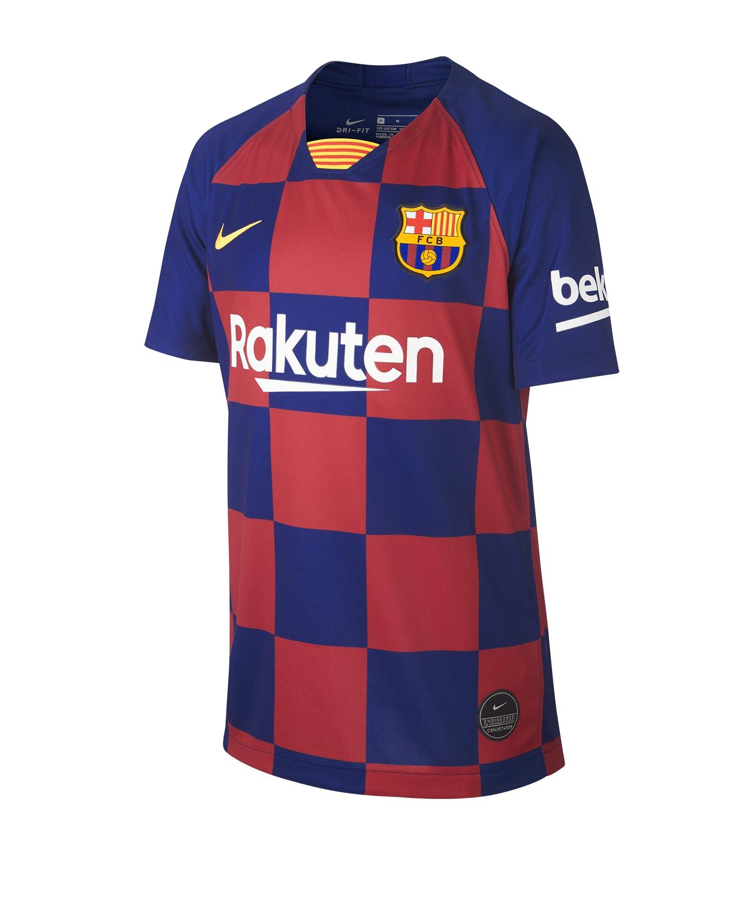 Nike FC Barcelona Trikot Home 2019/2020 Kids F457 - Blau